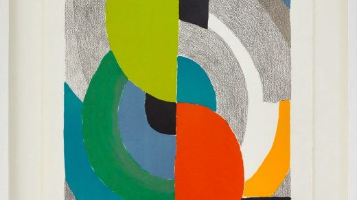 Sonia Delaunay, Helice Olympie (1969). Courtesy of Bastian