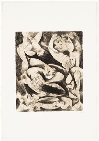 Jackson Pollock, Untitled (ca. 1944). Courtesy of Barbara Mathes Gallery.