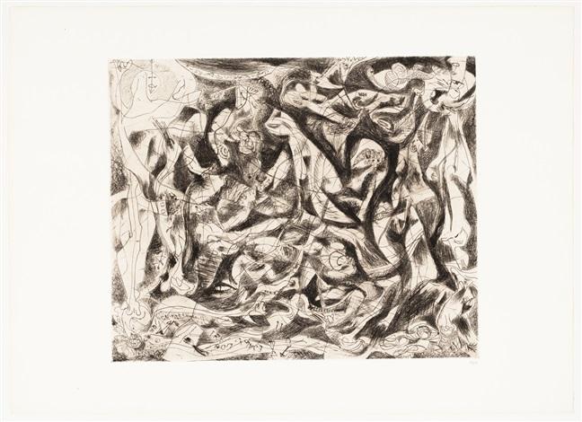 Jackson Pollock, Untitled (ca. 1944-45). Courtesy of Barbara Mathes Gallery.