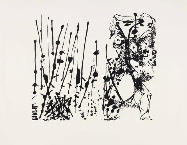Jackson Pollock, Silkscreen (Set of 6: 5 of 6) ( 1951). Courtesy of Barbara Mathes Gallery.