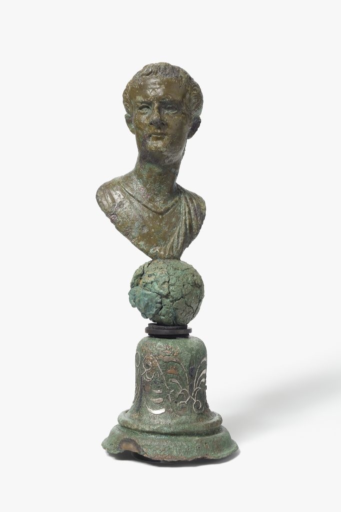 : Miniature bronze bust of Caligula, AD 37–41. © Colchester Museums.