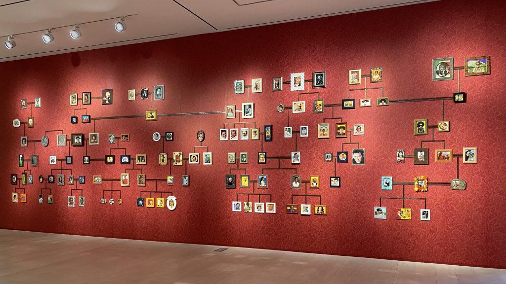 """Nina Katchadourian, <em>Genealogy of the Supermarket</em> (2005–) in """"Nina Katchadourian: Cumulus."""" Photo ©Nina Katchadourian, courtesy of Pace Gallery."""