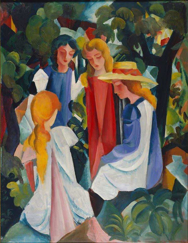 August Macke, Four Girls (1913). Photo courtesy of Museum Kunstpalast – Horst Kolberg.