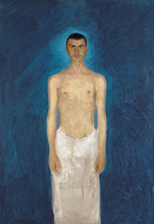 Richard Gerstl, Semi-Nude Self-Portrait (1902–04). Courtesy of the Leopold Museum, Vienna.