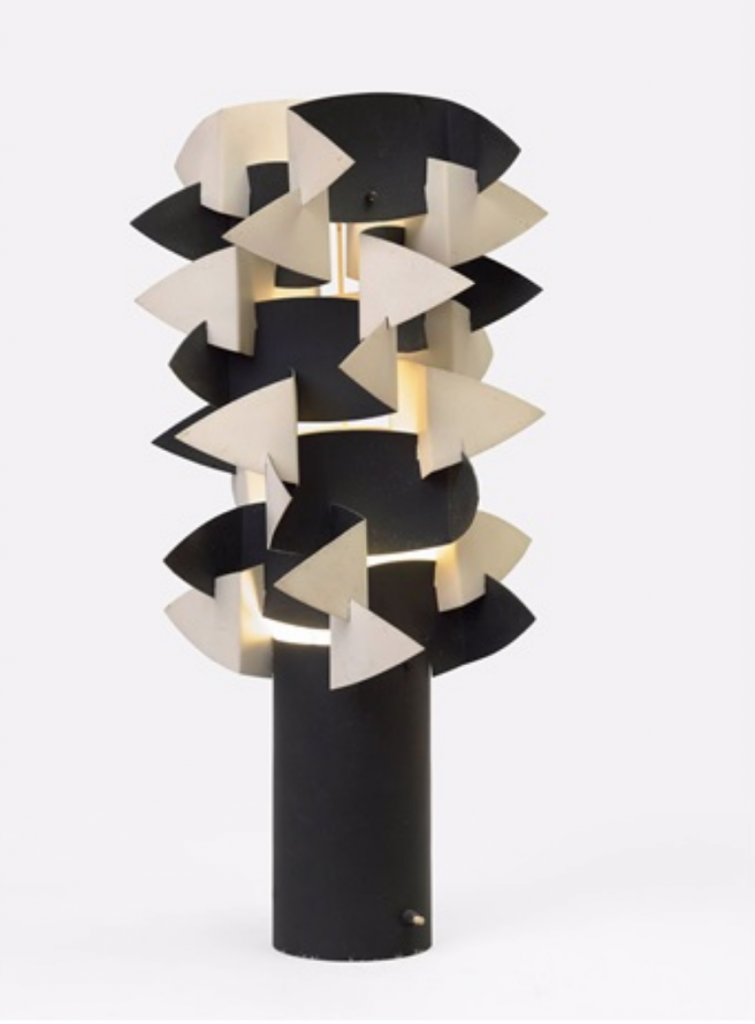 """Serge Mouille, """"Cactus"""" table lamp (ca. 1962). Courtesy of Galerie Jacques Lacoste."""