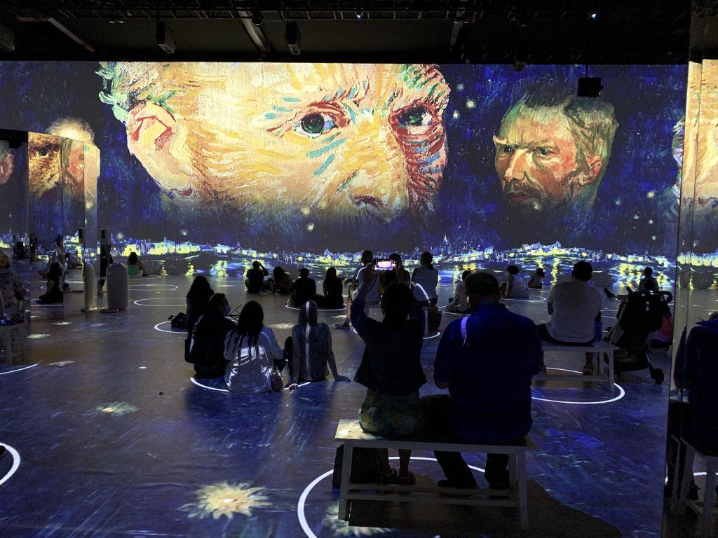 "Inside ""Immersive Van Gogh."" Photo by Ben Davis."