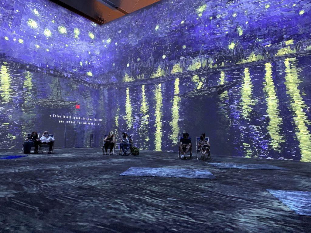 "Inside ""Van Gogh: The Immersive Experience."" Photo by Ben Davis."