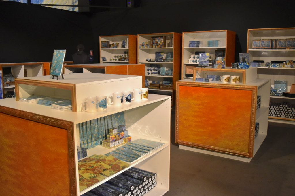 """The gift shop at """"Van Gogh: The Immersive Experience."""" Photo by Ben Davis."""