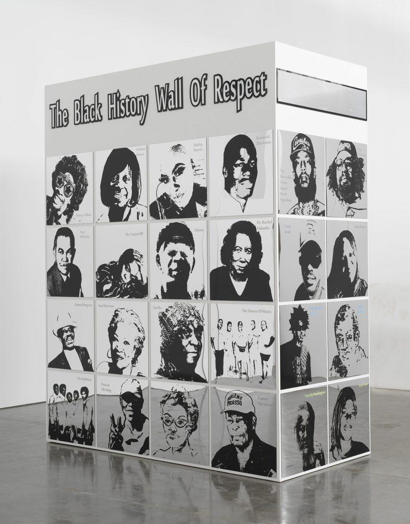 Lauren Halsey, <i>black history wall of respect (II)</i> (2021). © Lauren Halsey. Photo: Rob McKeever. Courtesy of the artist, David Kordansky Gallery, and Gagosian.