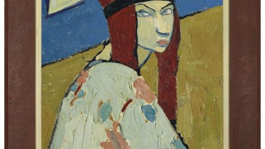 Jeanne Hebuterne, <i>Autoportrait (Self Portrait)</i>, (circa 1917). Courtesy of Christie's Images Ltd.
