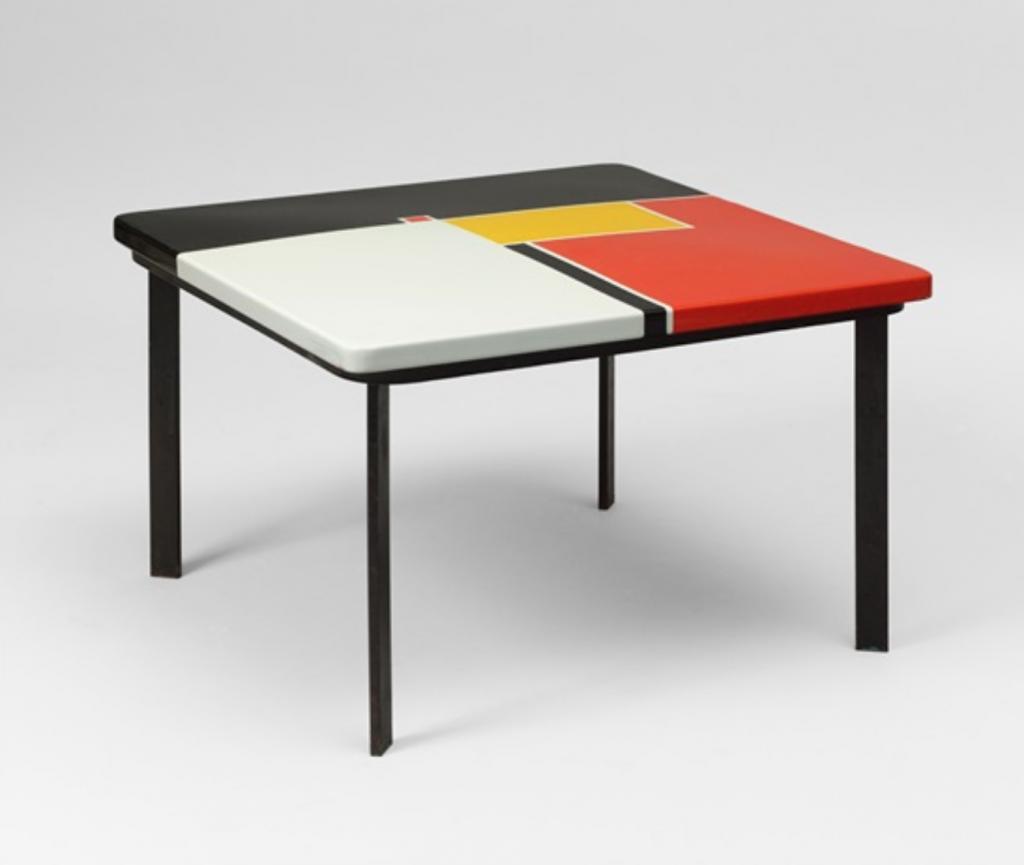 """Mathieu Matégot, Low table model """"Mondrian"""" (ca. 1956). Courtesy of Galerie Jacques Lacoste."""