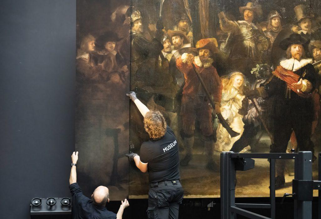 The process of reconstruction. Photo: Rijksmuseum/Reinier Gerritsen.