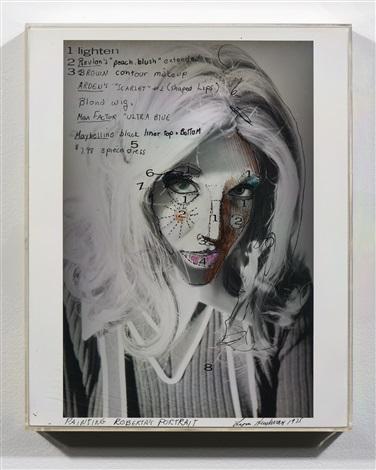 Lynn Hershman Leeson, Painting Roberta's Portrait (1975). Courtesy of the G. Austin Conkey Collection.