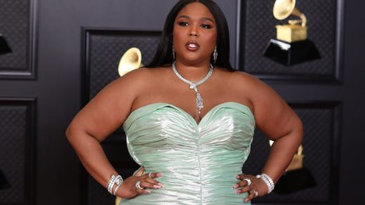 Lizzo on the red carpet at the 63rd Annual Grammy Awards, at the Los Angeles Convention Center, in downtown Los Angeles, CA, Wednesday, Mar. 14, 2021. (Jay L. Clendenin / Los Angeles Times via Getty Images)
