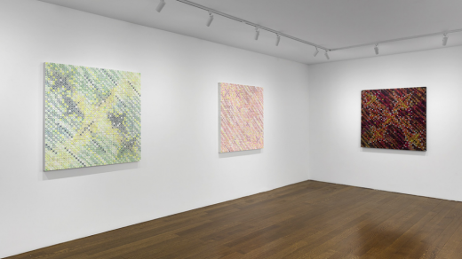 """Installation view """"Ding Yi: Lightscapes"""" (2021). Courtesy of Timothy Taylor."""