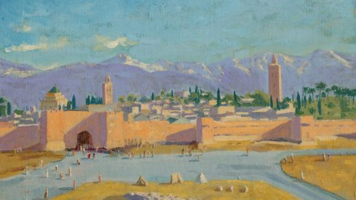 Sir Winston Churchill, Tower of the Koutoubia Mosque(1943). ©Christie's Images Limited 2021.