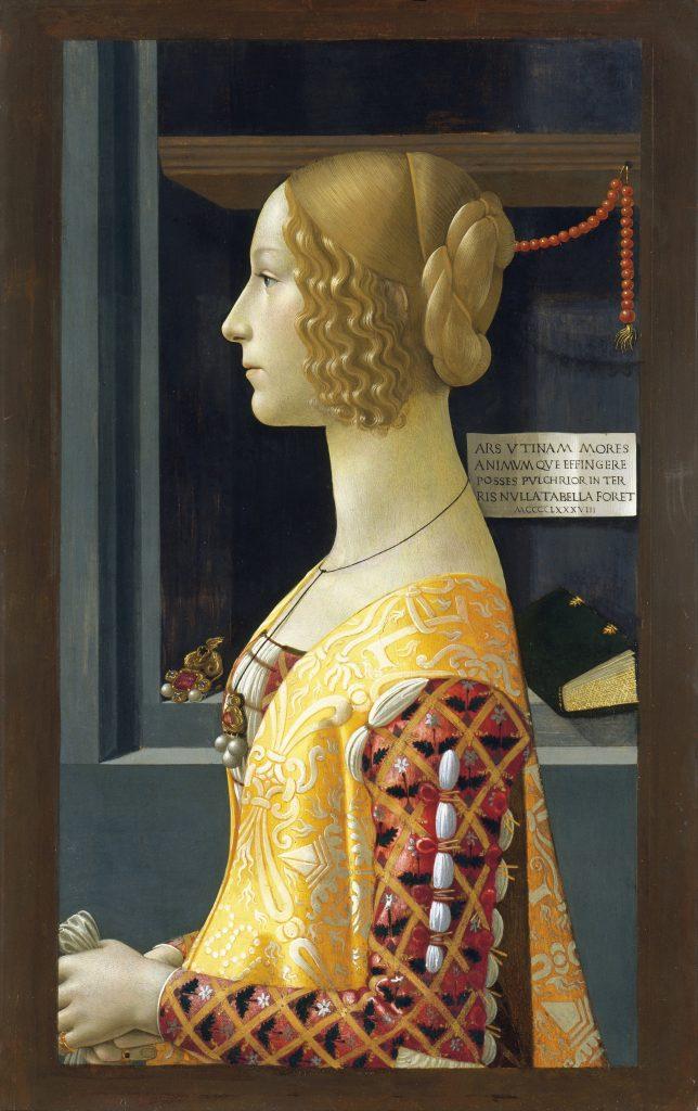 Domenico Ghirlandaio (Italian, 1449–1494), Portrait of Giovanna Tornabuoni, 1489-90, Museo Thyssen-Bornemisza, Madrid, Spain. Photo by VCG Wilson/Corbis via Getty Images.