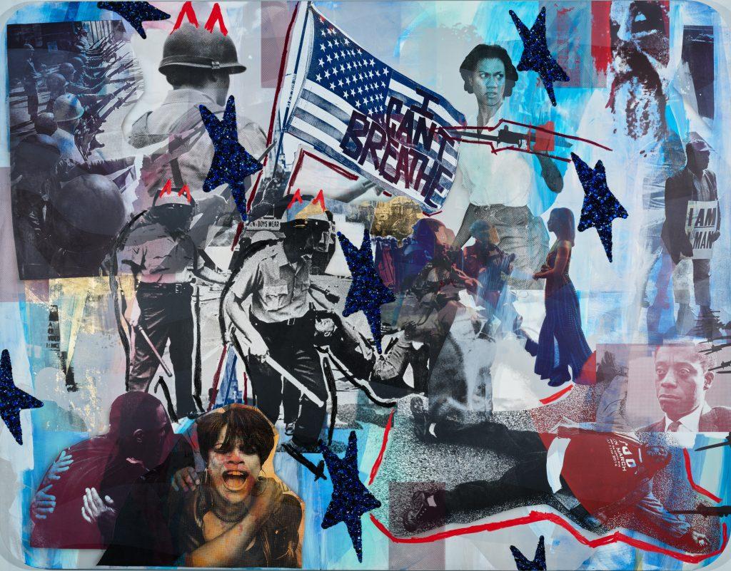 Mickalene Thomas, Resist #2 (2021). © Mickalene Thomas. Courtesy of the Baltimore Museum of Art.