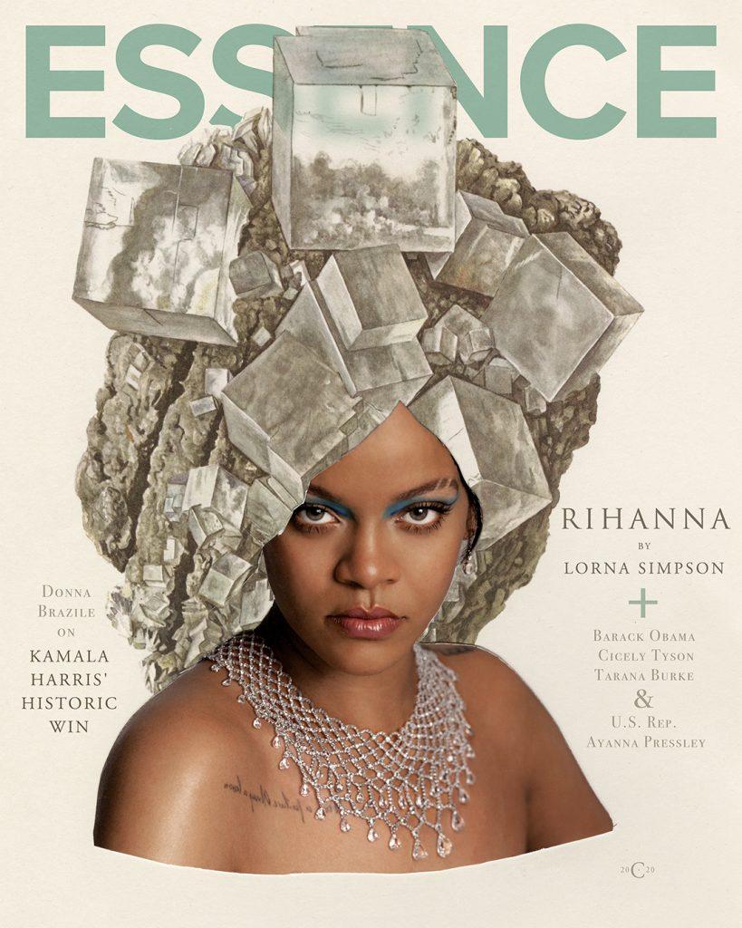 Rihanna by Lorna Simpson for Essence Magazine 2020.