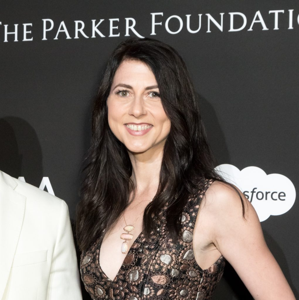MacKenzie Bezos attends the SEAN PENN J/P HRO GALA: A Gala Dinner to Benefit J/P Haitian Relief Organization and a Coalition of Disaster Relief Organizations at Milk Studios on January 6, 2018 in Los Angeles, California. Photo: Greg Doherty/Patrick McMullan via Getty Images.
