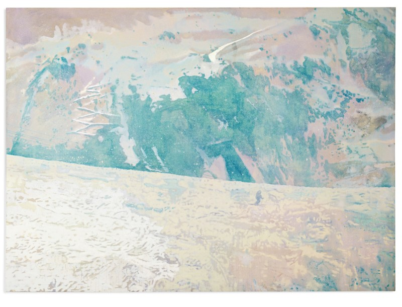 Peter Doig, Blue Mountain (1996). Courtesy of Sotheby's.