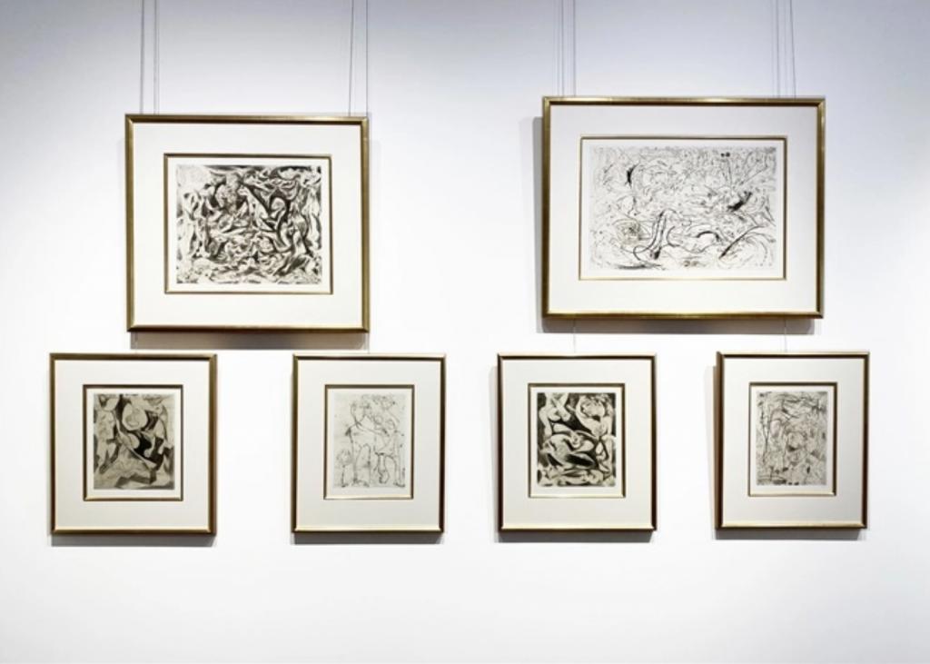 Jackson Pollock, Untitled (Set of 6) (1944–1945). Courtesy of Barbara Mathes Gallery.