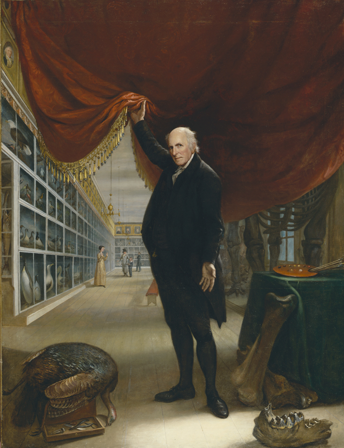 Charles Willson Peale, The Artist in His Museum (1822). Courtesy of the Pennsylvania Academy of Art.