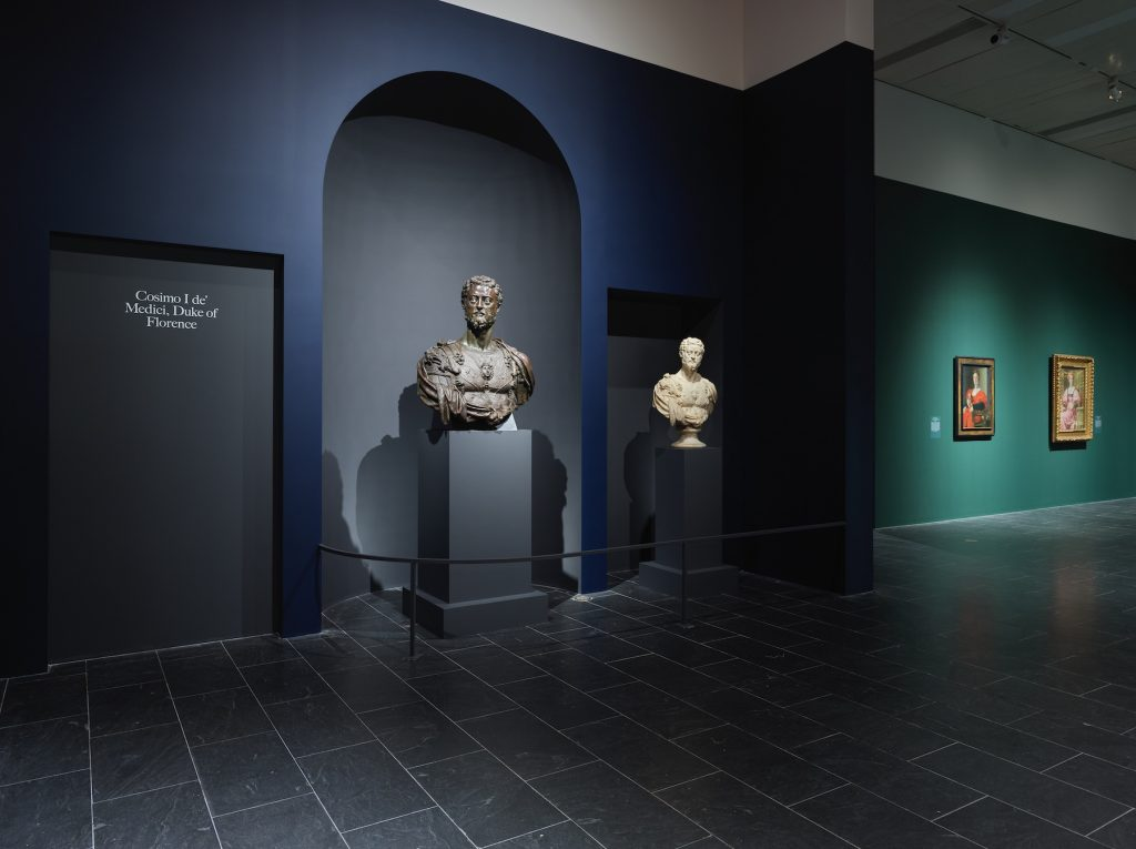 """Two portrait busts by Cellini in """"The Medici: Portraits and Politics, 1512–1570"""" at The Metropolitan Museum of Art, New York. Photo by Hyla Skopitz, Courtesy of The Met"""