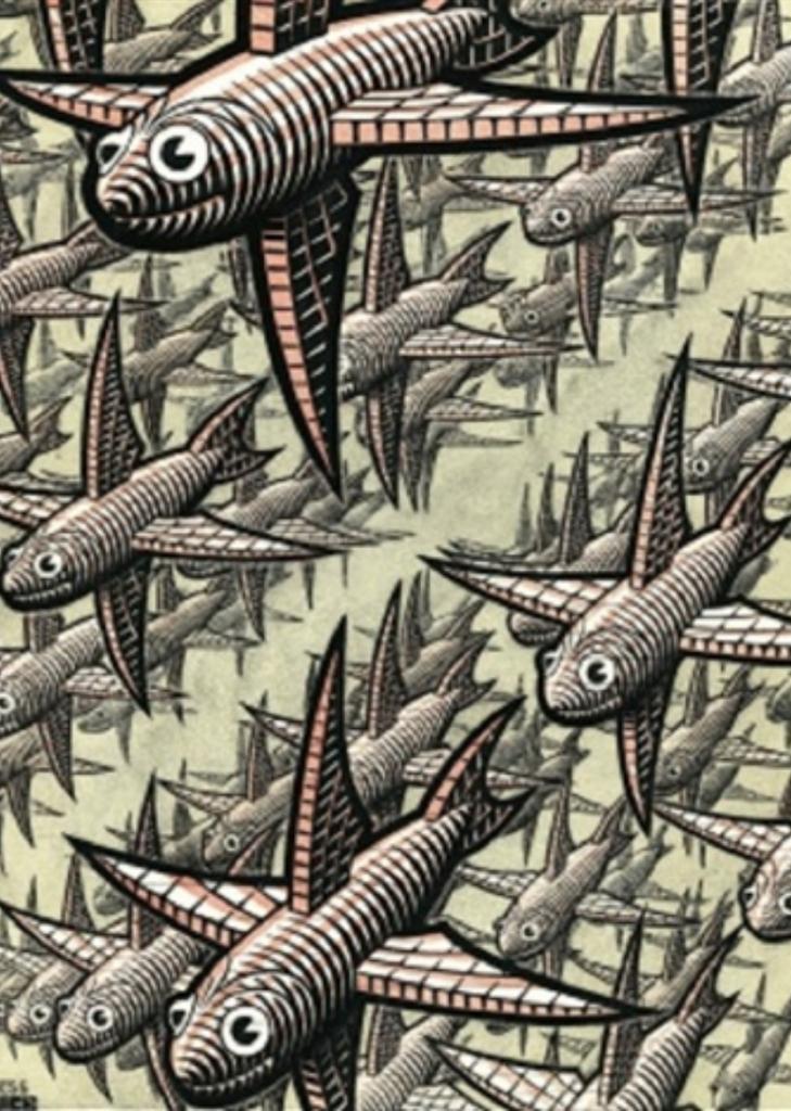 M. C. Escher, Depth #403 (1955). Courtesy of Walker Fine Art.