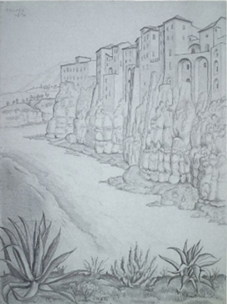 M. C. Escher, Tropea Seaside (1930). Courtesy of Walker Fine Art.