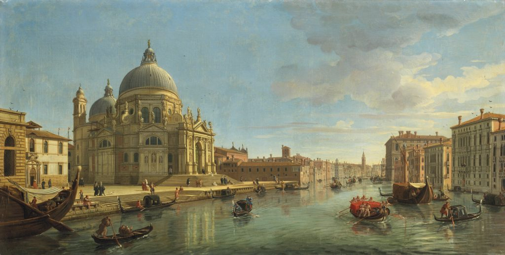 Gaspar van Wittel, called Vanvitelli, <i>View of Santa Maria della Salute, Venice, from the entrance of the Grand Canal</i>. Courtesy Christie's Images Ltd. 2021.