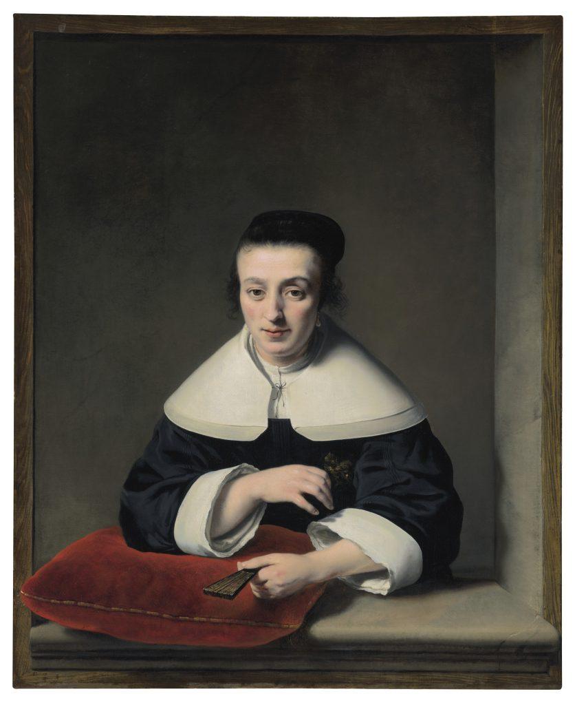 Ferdinand Bol, <i>Portrait of a lady at a casement</i>. Courtesy Christie's Images Ltd. 2021.