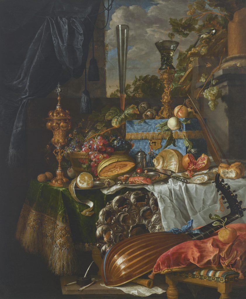 Jan Davidsz. de Heem, <i>A banquet still life</i>. Courtesy Christie's Images Ltd. 2021.