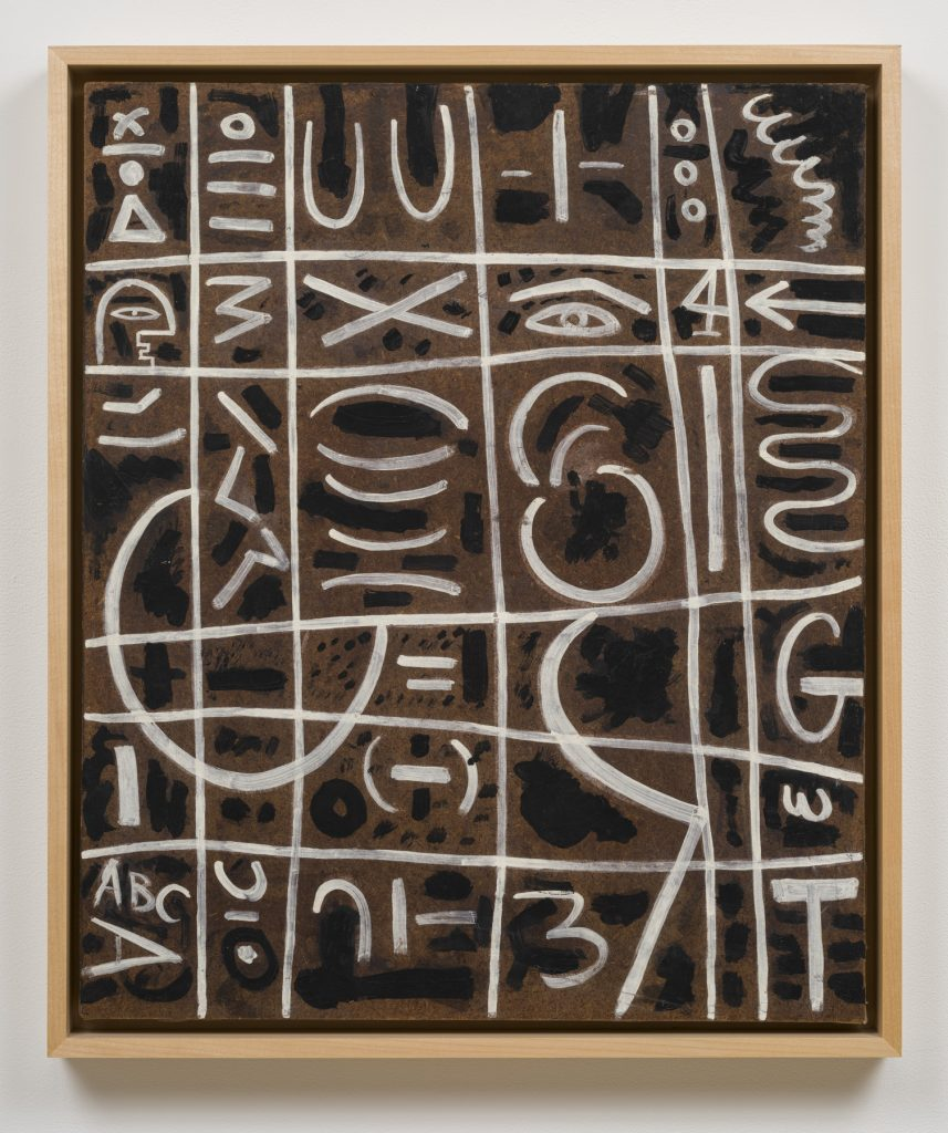 Adolph Gottlieb, <em>Black and White On Pressed Wood</em> (1950). Photo © Adolph and Esther Gottlieb Foundation/licensed by VAGA at ARS, N.Y., courtesy of Pace East Hampton.