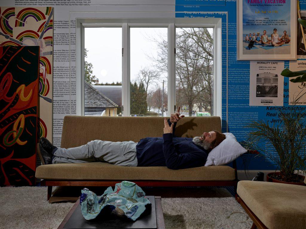 Joel Mesler in his studio. Photo Matthew Herrmann.