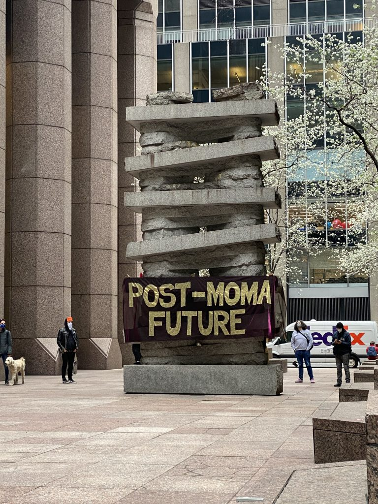 A Strike MoMA action outside the museum. Photo: Zachary Small