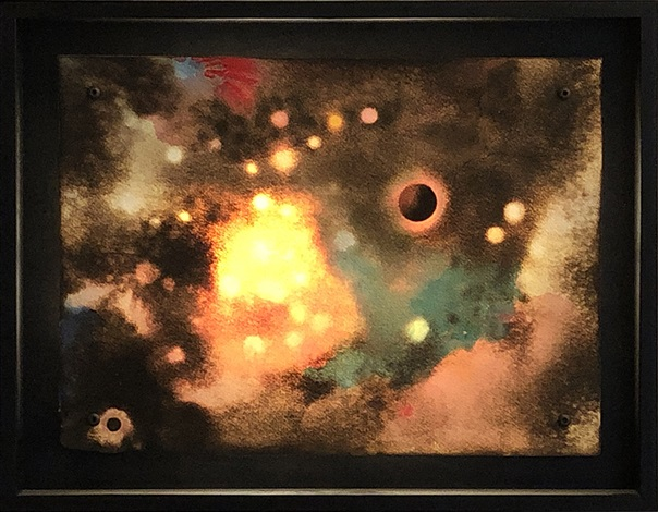 Paul Chojnowski, Celestial Red & Green (2016). Courtesy of Elizabeth Clement Contemporary.