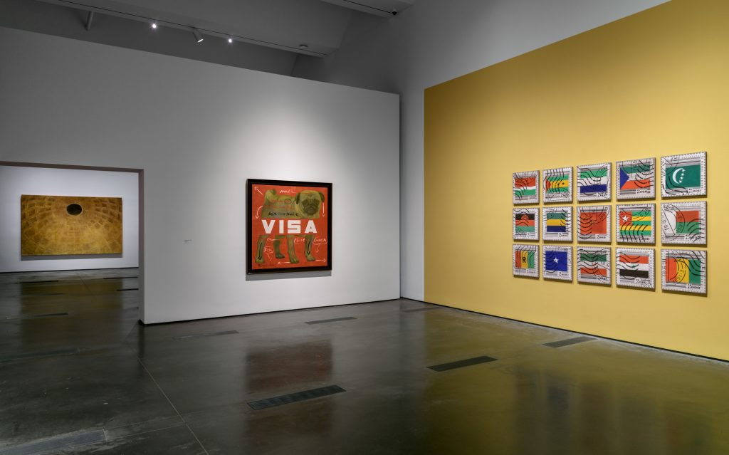"""Installation view of """"Legacies of Exchange: Chinese Contemporary Art from the Yuz Foundation"""" at the Los Angeles County Museum of Art, 2021. Courtesy of LACMA."""