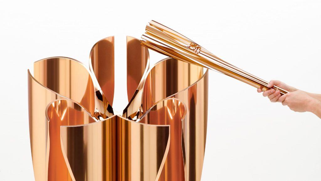 Tokujin Yoshioka designed the torch for the 2020 Olympics. Photo courtesy of Tokujin Yoshioka.