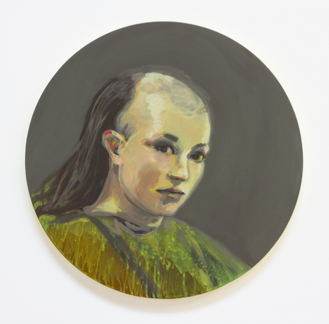 Claire Tabouret, <i>Because of You (Green)</i> (2016).