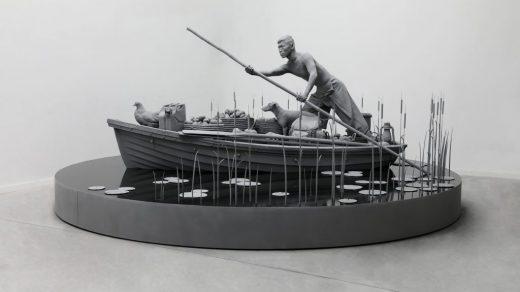 Hans Op de Beeck, The Boatman (2020). Courtesy of Galleria Continua.