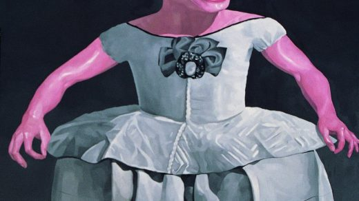 Yue Minjun, <i>Infanta</i> (1997). © Yue Minjun. Courtesy of Pace Gallery.