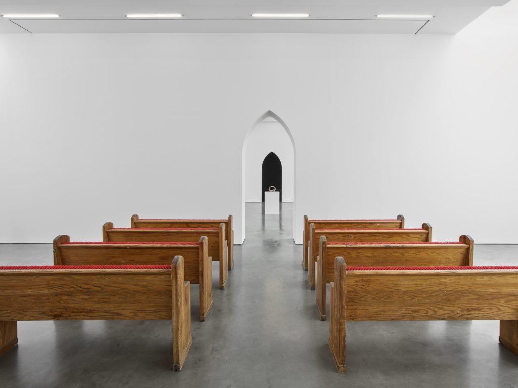 """Installation view, """"Hugh Hayden: Huey"""" © Hugh Hayden. Courtesy Lisson Gallery."""