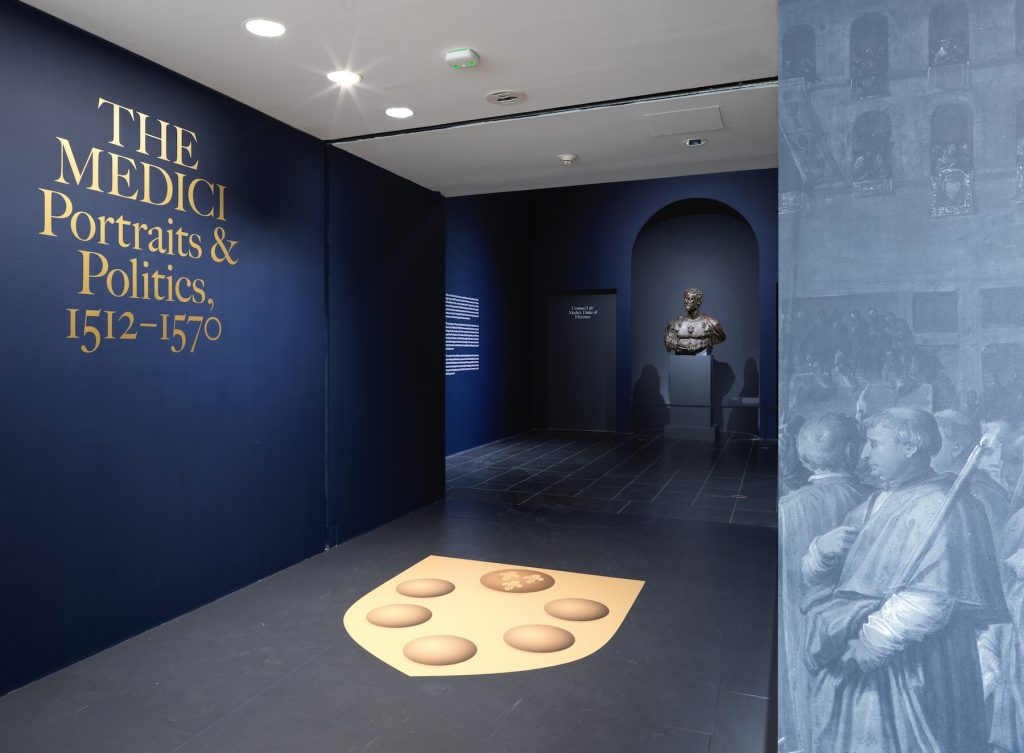 """Installation view of """"The Medici: Portraits and Politics, 1512–1570"""" at The Metropolitan Museum of Art, New York. Photo by Hyla Skopitz, Courtesy of The Metropolitan Museum of Art."""