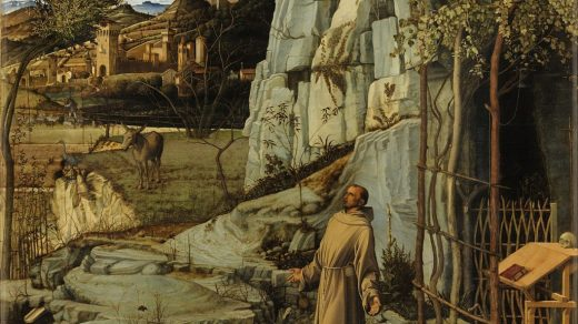 Giovanni Bellini, <i>St. Francis in the Desert</I> (1480). Courtesy of the Frick Collection, New York.