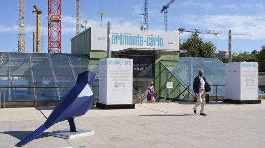 artmonte-carlo at the Grimaldi Forum with a work by Xavier Veilhan. Courtesy Perrotin. Photo: Julien Gremaud.