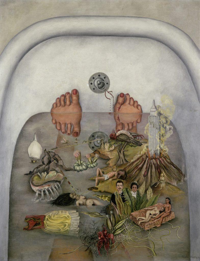 Frida Kahlo, <em>What Water Gave Me</eM> (1938). Photo by Christie's Images/Bridgeman Images, ©Banco de Mexico Diego Rivera Frida Kahlo Museums Trust/VG Bild-Kunst, Bonn 2021; reproduction authorized by the Instituto Nacional de Bellas Artes y Literatura, 2021.