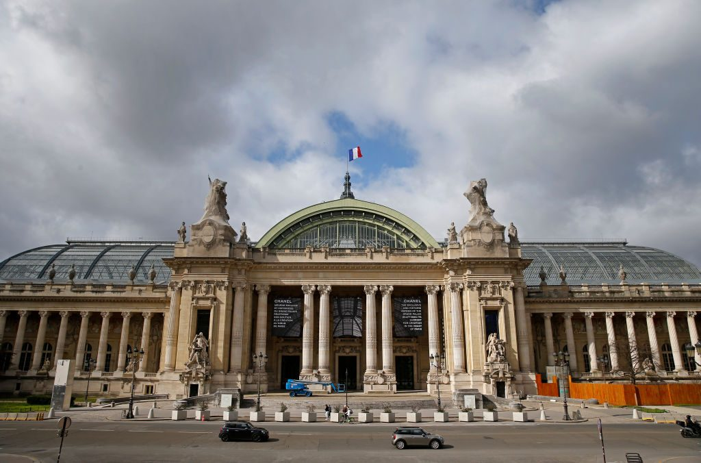 The Grand Palais is seen the day it is closed for renovation work on March 12, 2021 in Paris, France. Photo by Chesnot/Getty Images.