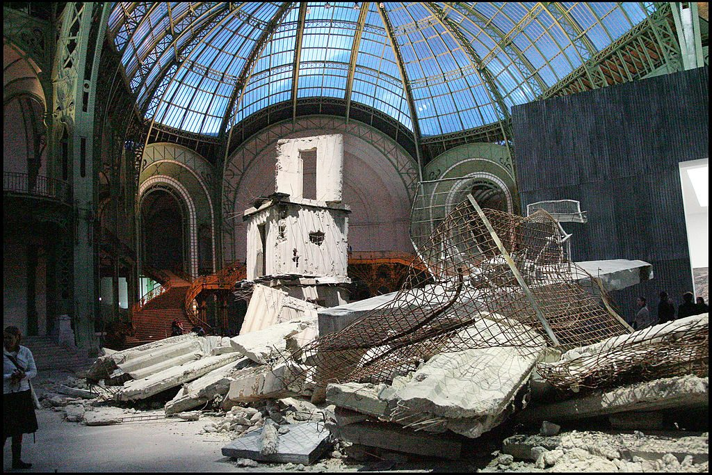 """""""Monumenta 2007"""" exhibition by Anselm Kiefer at the Grand Palais in Paris. Photo by Bertrand Rindoff Petroff/Getty Images."""
