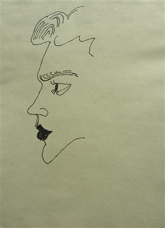 Andy Warhol, Young Male (1956). Courtesy of Long-Sharp Gallery.